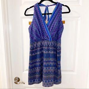 Athleta GO ANYWHERE blue halter dress 10 petite